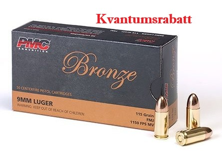 PMC 9mm Luger 115 grs FMJ - 50 stk